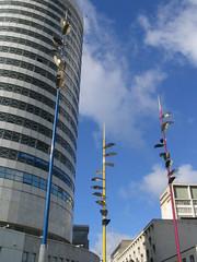Coloured poles