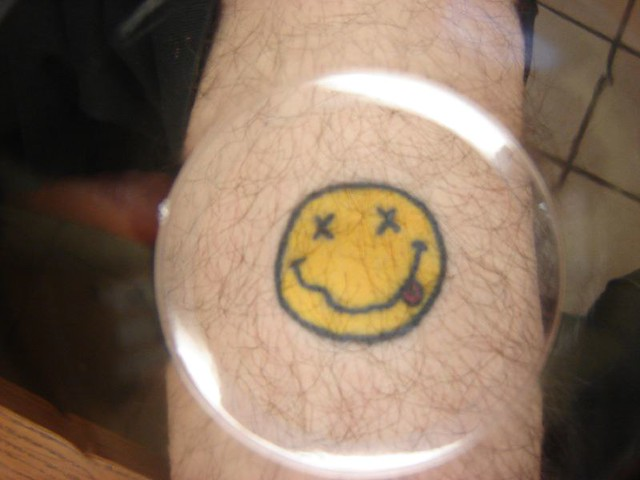 Nirvana Smiley Tattoo