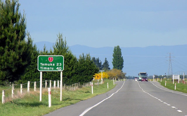 State Highway One (looking south), Rangitata, South Canterbury, New Zealand, 28 October 2005