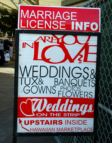 Marriage licence info