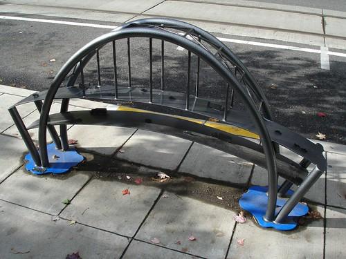 Bike rack bridge