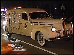 The New Cadillac >> 1940 la Salle hearse | Rosa Parks' casket was driven from