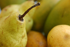 yellow, pear, macro photography, produce, fruit, food, close-up,