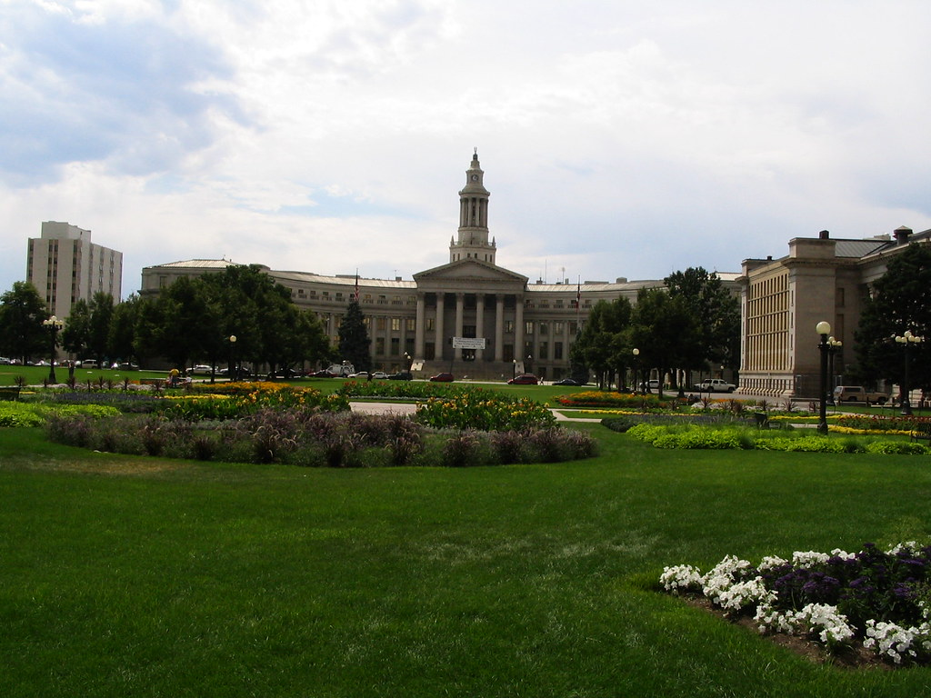 Denver City and County Building from Colorado State Capitol, Denver Civic Center, Denver, Colorado