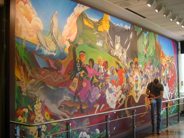 Mural denver airport denver colorado a photo on flickriver for Denver mural airport