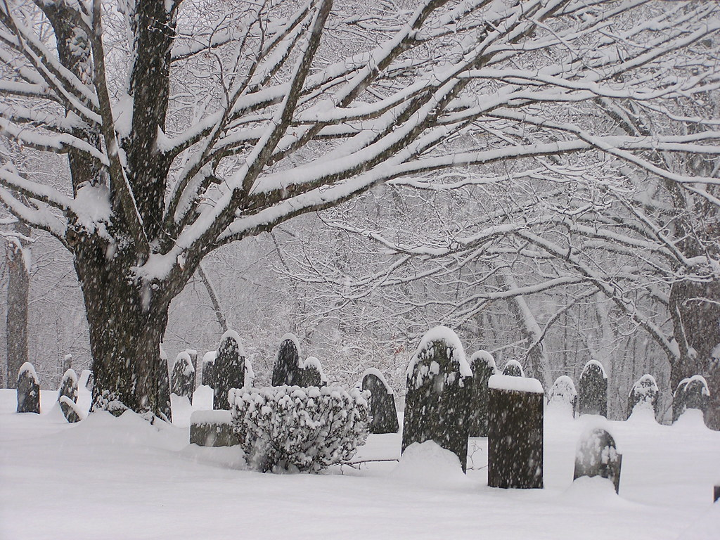 South Cemetery in Snow