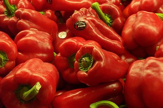 sweet red peppers
