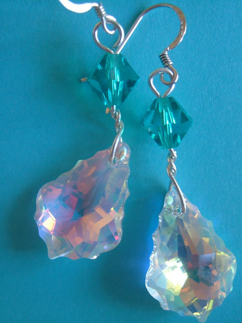 Swarovski earrings-So simple soo, Fujifilm FinePix F420