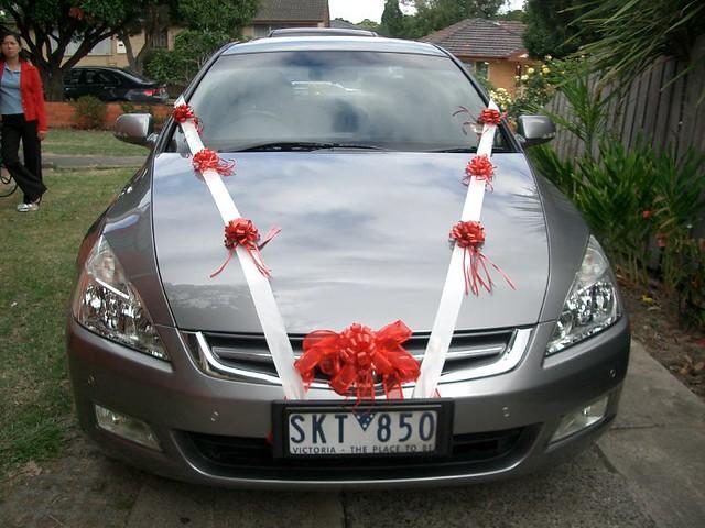 Свадебное украшение машины своими руками мастер класс