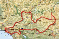 Route map: Arizona, Nevada, California | Map showing our 8-d… | Flickr