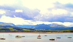 Snowdonia from Anglesey