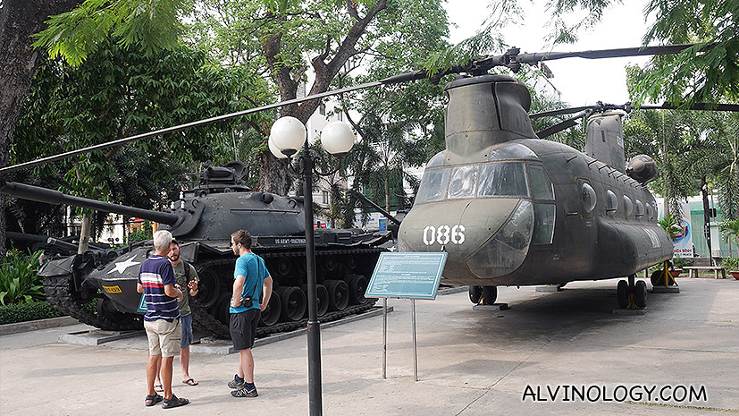 Helicopters and tanks