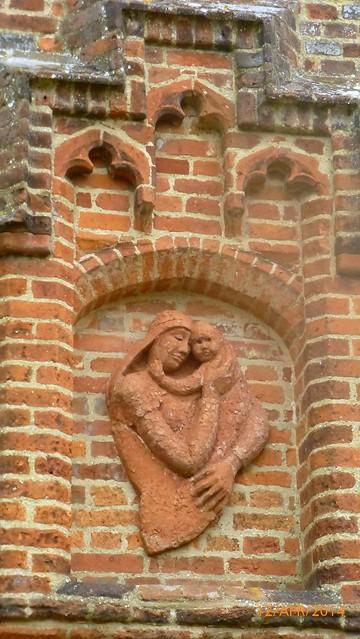 Terracotta Bas-relief at All Saints Church, Feering