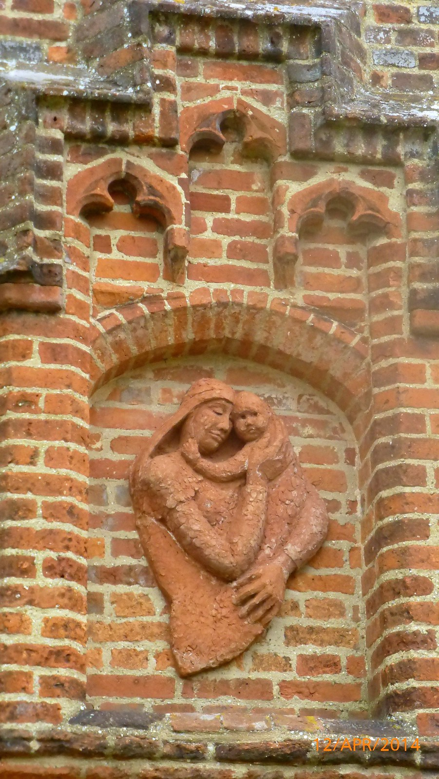 Terracotta Bas-relief at All Saints Church, Feering SWC Walk 216 Kelvedon Circular