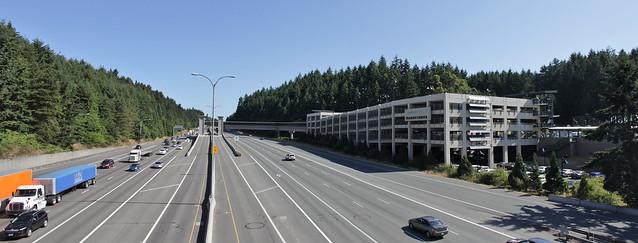 Mountlake Terrace Freeway Station panorama