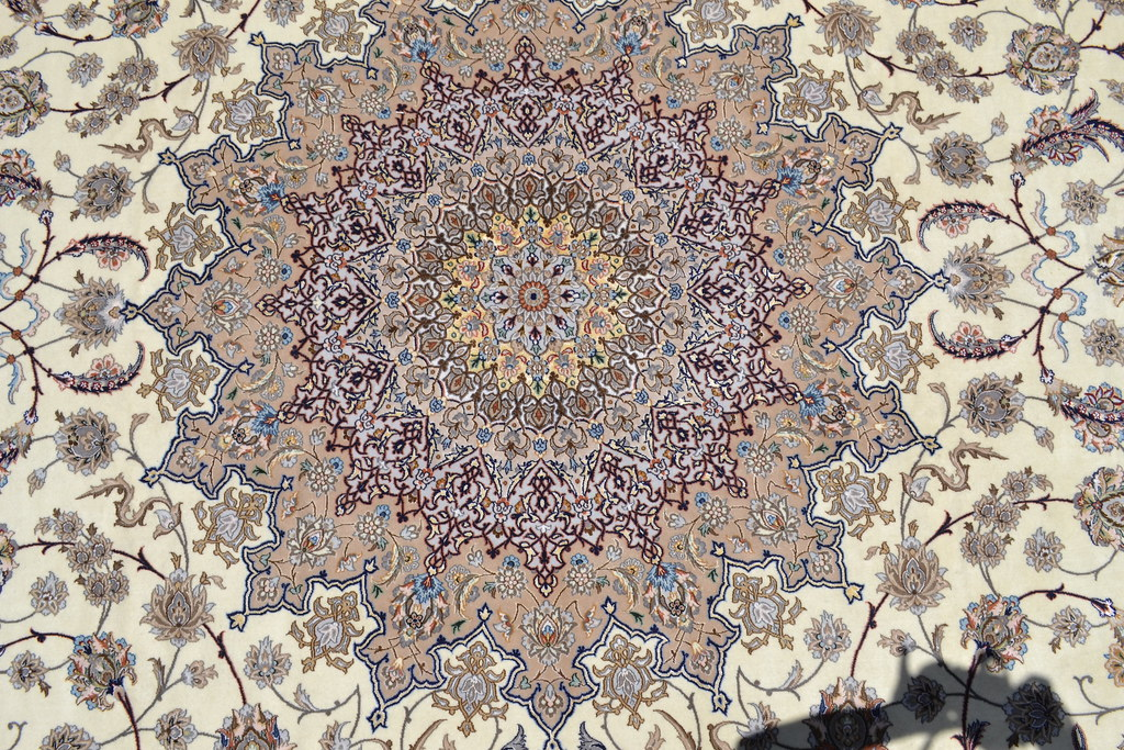 Isfahan Oversize Persian Area Rug Handwoven 12x17 silk base  (8)
