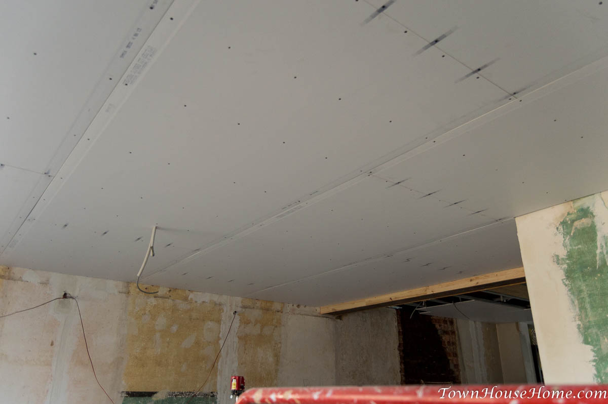 Living room all drywalled