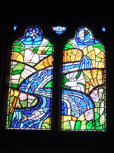 Stained Glass Window in the Chucrh in Tillington