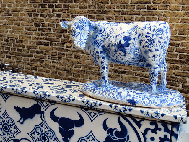 Delft Blue Cow (in Delft Holland, natch!)