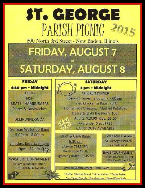 St George Parish Picnic 8-7, 8-8-15