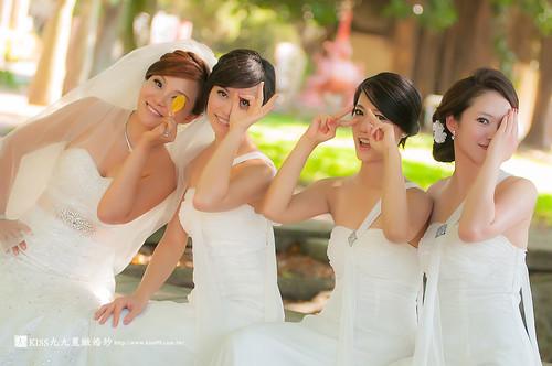 高雄KISS九九麗緻婚紗~跟閨蜜一起拍婚紗!紀念我們逝去的青春… (6)