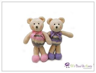 Pink & Lilac Bears