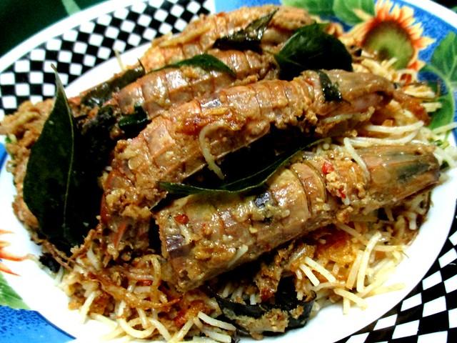 Bihun & mantis prawns