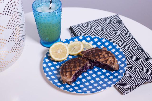 blueberry brie waffle sandwich