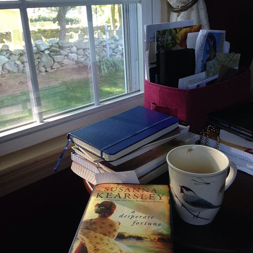 Quiet Saturday morning. Husband is off bright & early for an oil change for his car. I am enjoying the birds singing with my coffee & book while the girls sleep. In a little while time to get ready for a birthday party for a little friend of ours! Busy Sa