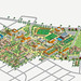 Santa Clara University Campus Map Illustration Design by Rod Hunt