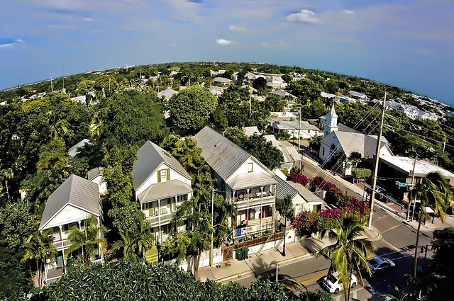 The skyline of Key West, Florida, U.S.A.