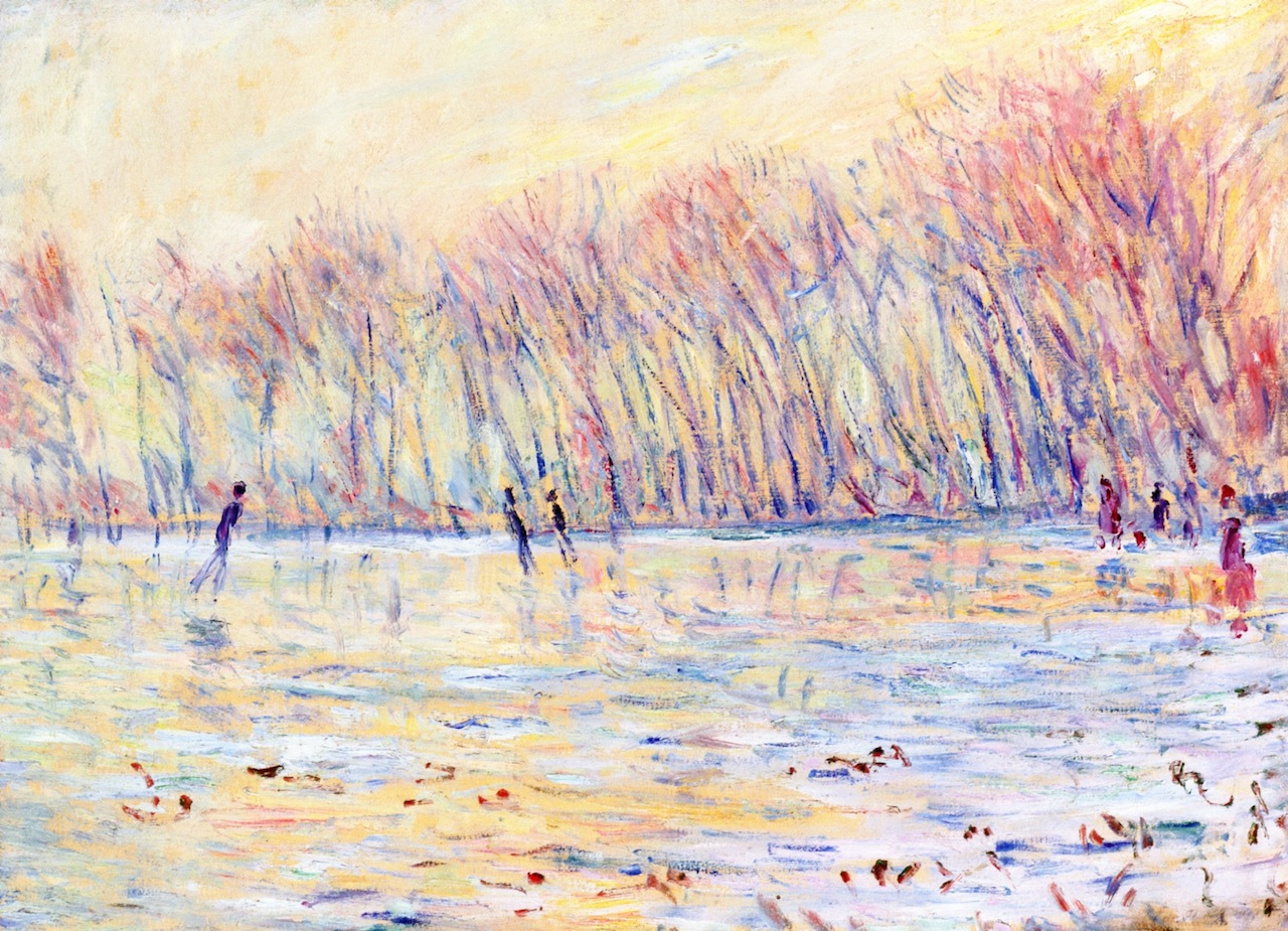 Skaters at Giverny by Claude Oscar Monet - 1899