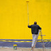 Yellow Wall - DTLA by macabrephotographer
