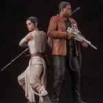 一把光劍兩人用剛剛好!!壽屋 ARTFX+ 系列【芮 & 芬恩】Rey and Finn 1/10 比例雕像作品