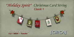"[CIRCA] - ""Holiday Spirit"" - Christmas Card String - Classic 1"
