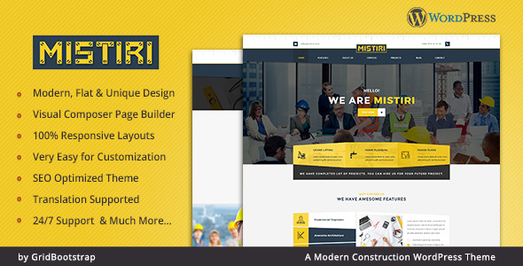 Mistiri v1.0 - Construction Company Theme