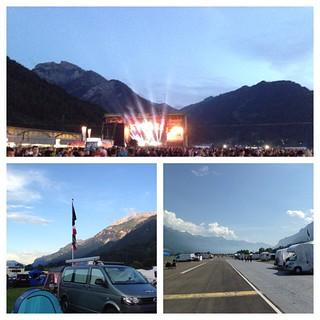 Day 3 #alps #suisse #vanlife #vanagon #festival #gf2015 #greenfieldfestival #vwcaliforniabeach #vwcamper #furgovw