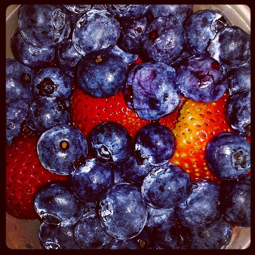 It's strawberry and blueberry season, you guys! 😍 😍 😍  #strawberries #blueberries #yum