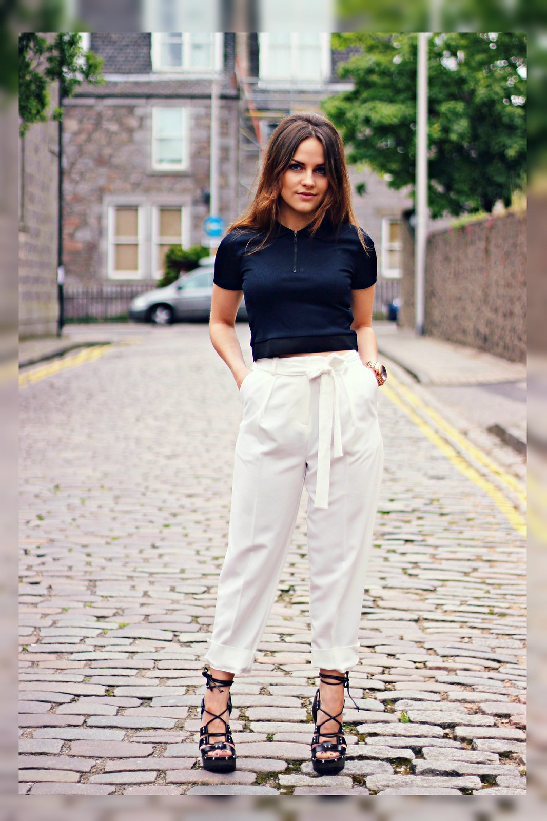 Topshop cream trousers 2