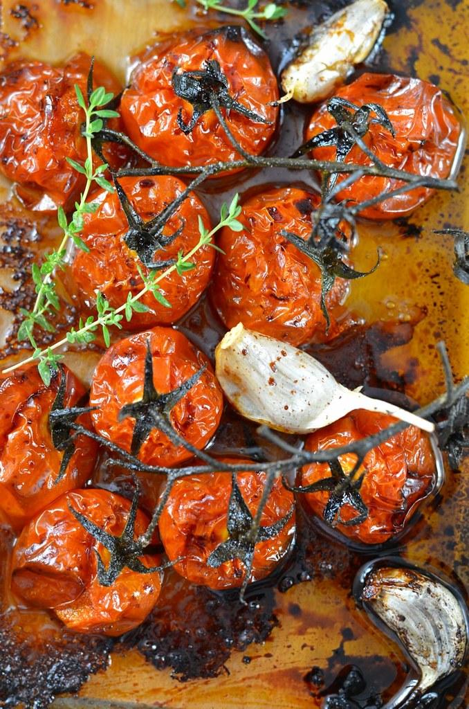 Tomates rôties et confites au four