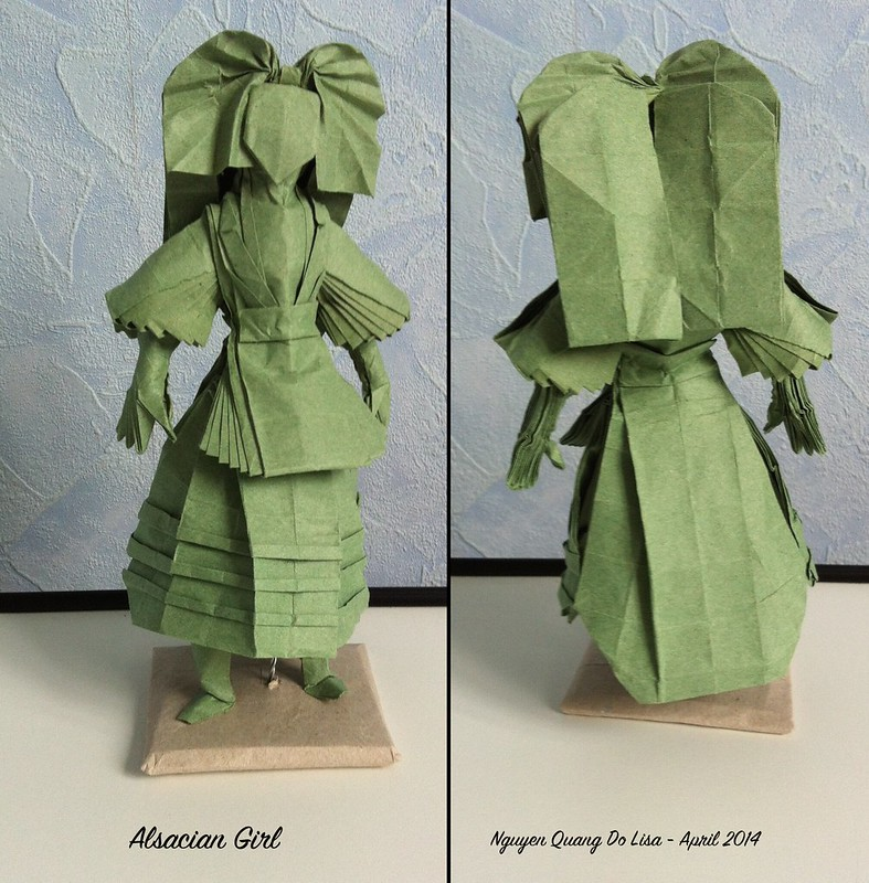 Origami Alsatian Girl