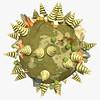 Cartoon Planet Low Poly by Graphic Designer | 3D Artist | Cinema 4D Modeler
