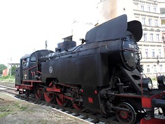 Locomotive in Świdnica, Poland.