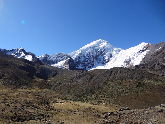 Highlights of the Cordillera Blanca Traverse: Cuchilla Pampa camp - not a bad spot!