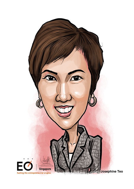 Josephine Teo digital caricature for EO Singapore