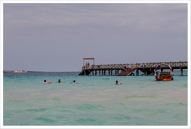 La playa de Prison Island
