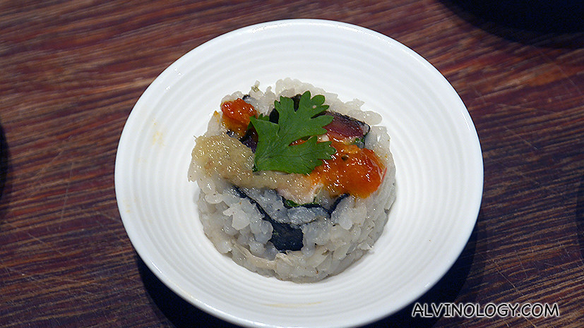 Maki Roll of Chicken Rice - a favourite during the tasting