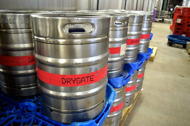 Kegs at Drygate Brewery, Glasgow