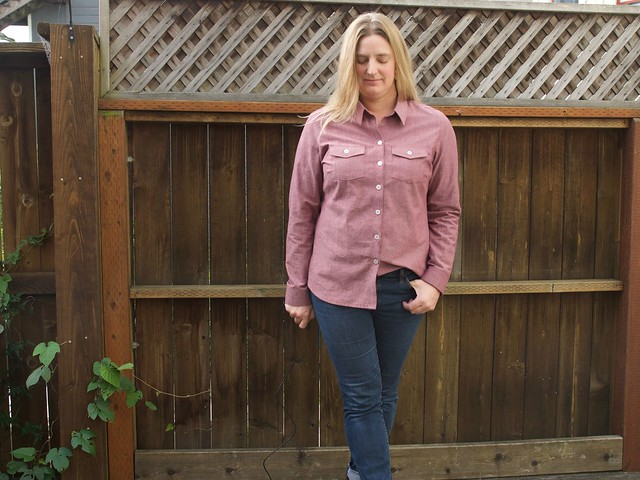 chambray Granville shirt full length