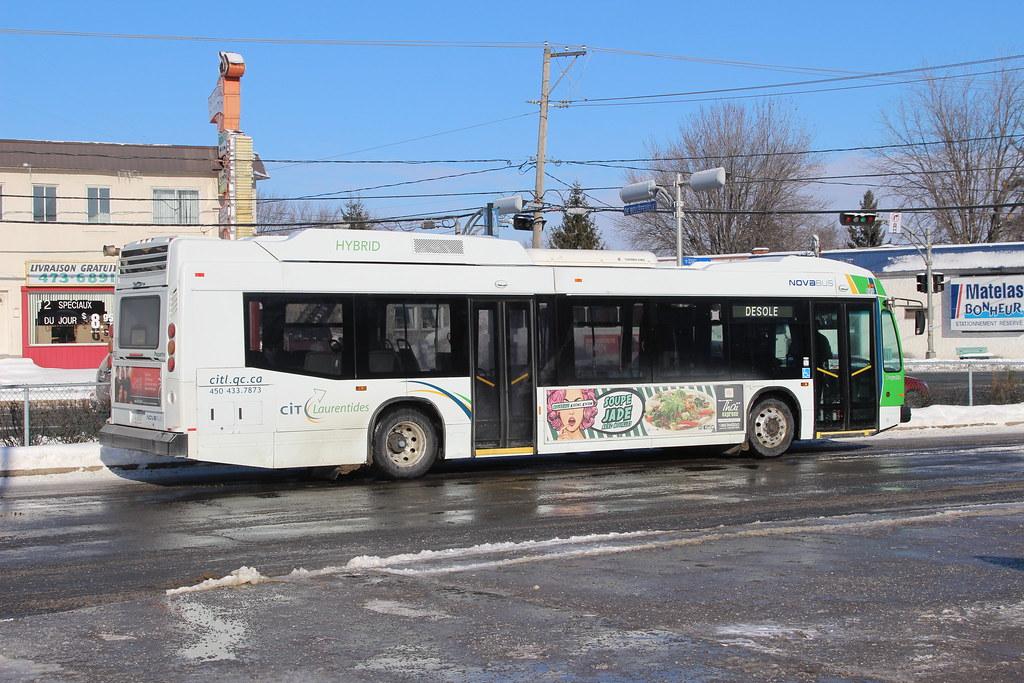 CIT Laurentides/Paquette Nova Bus LFS HEV 623